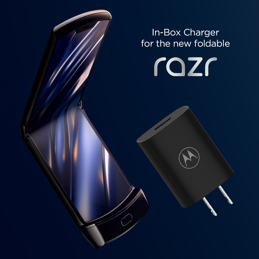 TurboPower Flip- In-box charger for the new motorola razr